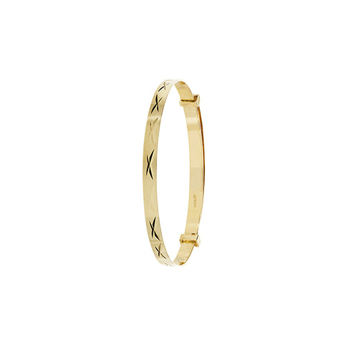 9 carat yellow gold expandable baby bangle
