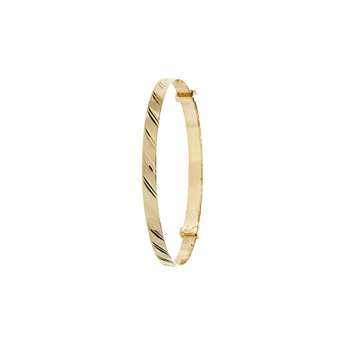 9 carat yellow gold 3mm expandable baby bangle