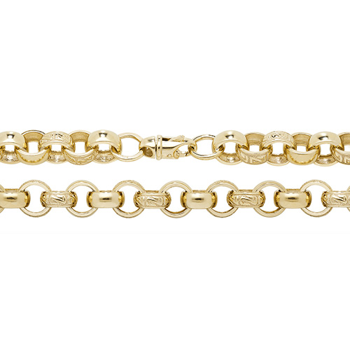 9 Carat Yellow Gold Cast Belcher Bracelet