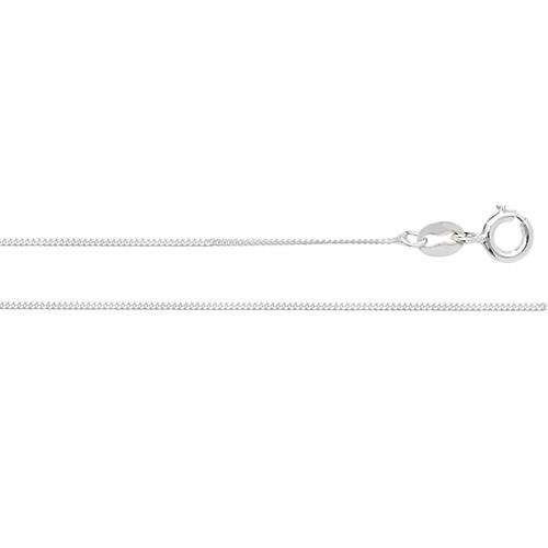 silver fine flat curb chain