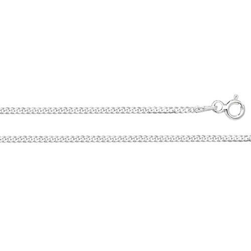 silver flat curb chain