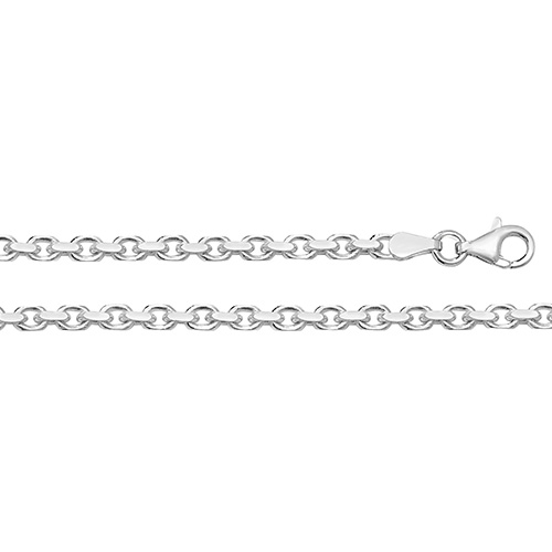 Silver Faceted Belcher Chain