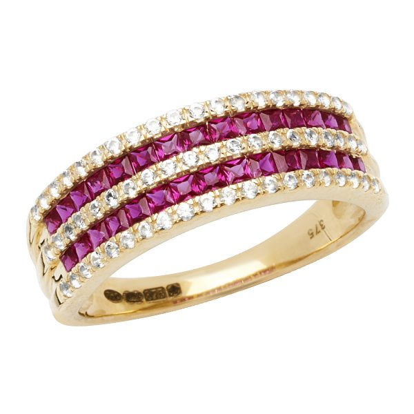9 carat created ruby ring