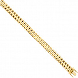 9 Carat Gold Watch Strap Style Bracelet