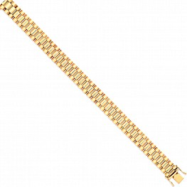 9ct Gold Watch Strap Style Bracelet
