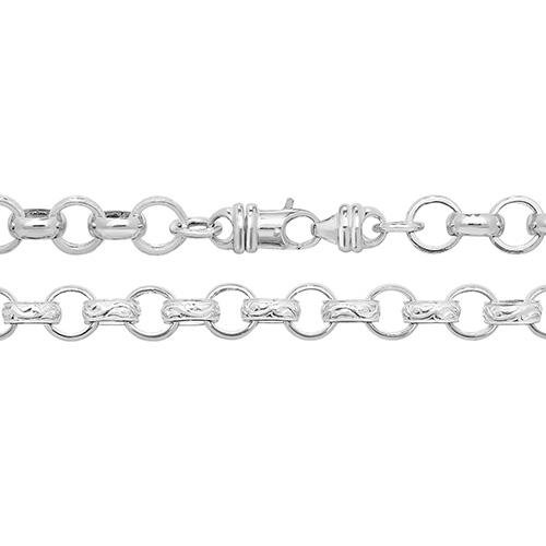 Silver Round Belcher Chain
