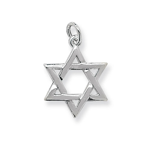 Silver star Of David Charm