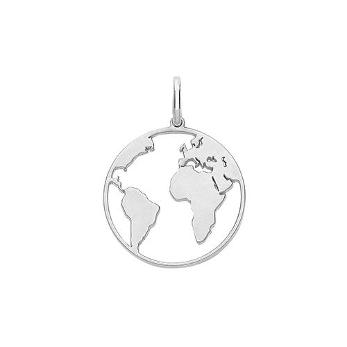 Silver World Globe Pendant