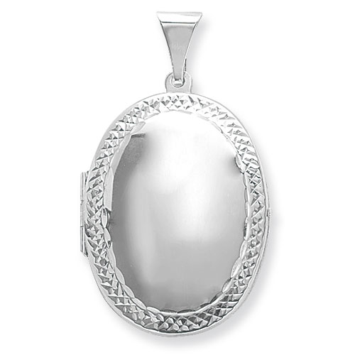 Oval shaped patterned Edged locket