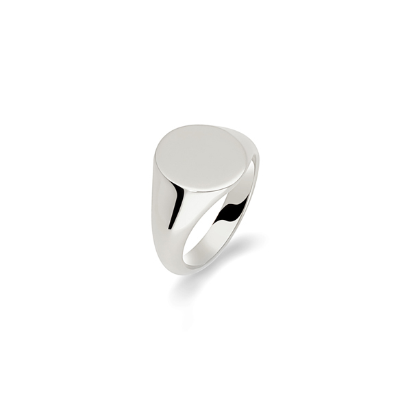 argentina plain oval signet ring