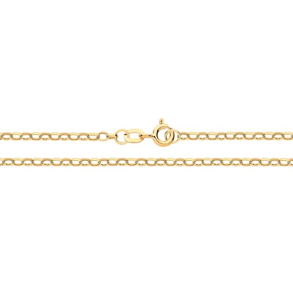 9 carat yellow gold diamond cut belcher chain