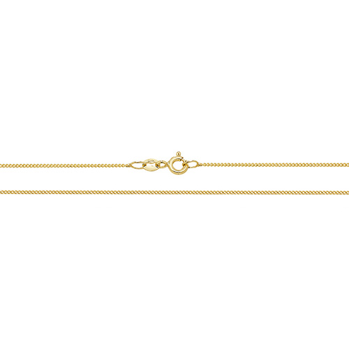 18 carat yellow gold close curb chain