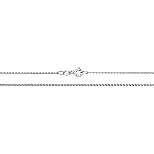 18 carat white gold close curb chain