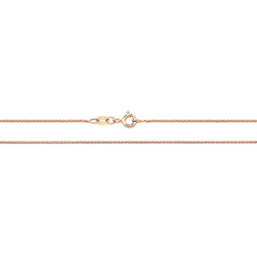 18 carat rose gold wheat round chain