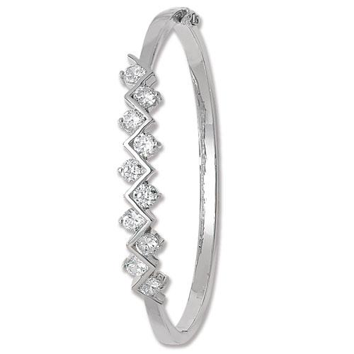 silver cz fancy bangle