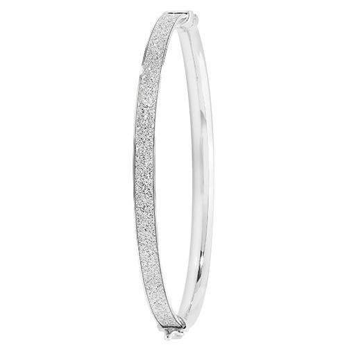 sterling silver moondust bangle