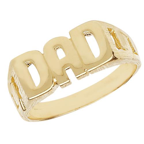 9 carat yellow gold dad ring