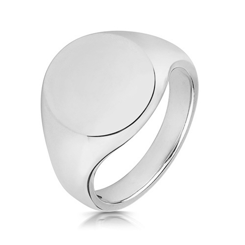 mens large oval signet ring