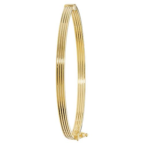 9 carat yellow gold fancy bangle
