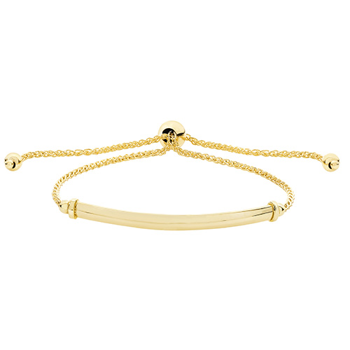 9 carat yellow gold bar pull bracelet