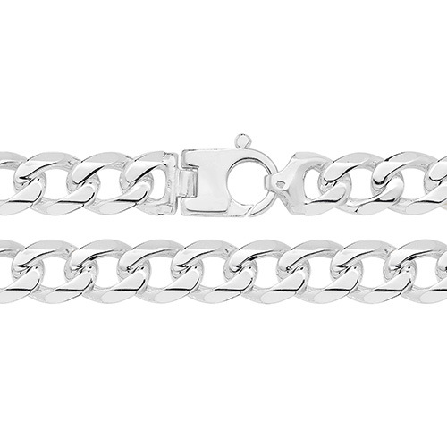 large silver curb chain