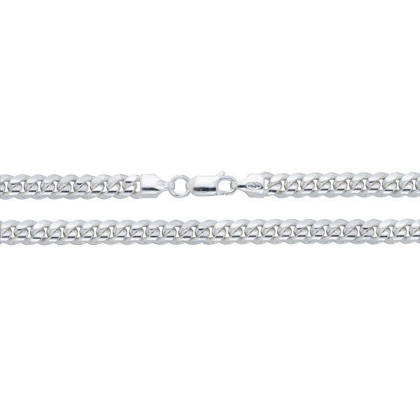 silver curb cuban chain