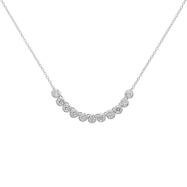 sterling silver cubic zirconia necklet