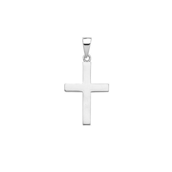 plain sterling silver cross