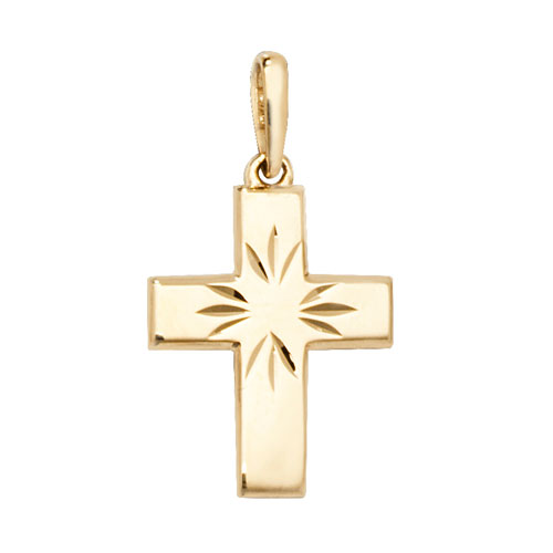 9 carat yellow gold cross