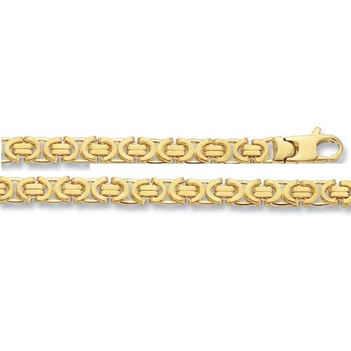 9 carat yellow gold byzantine bracelet