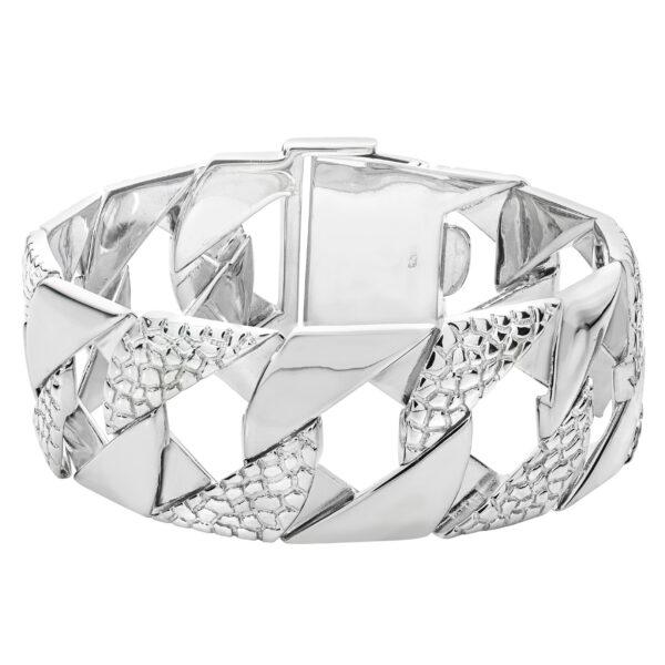 large silver mens bracelet
