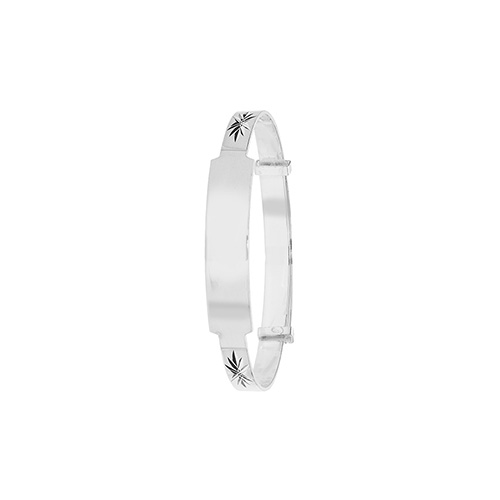 silver id bangle