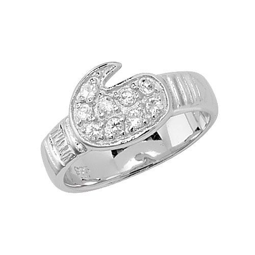 sterling silver boxing glove ring