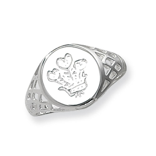 silver celtic feather ring
