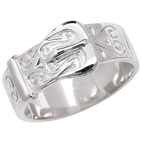 silver fancy buckle ring