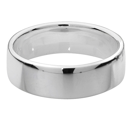 sterling silver 6mm soft court wedding ring