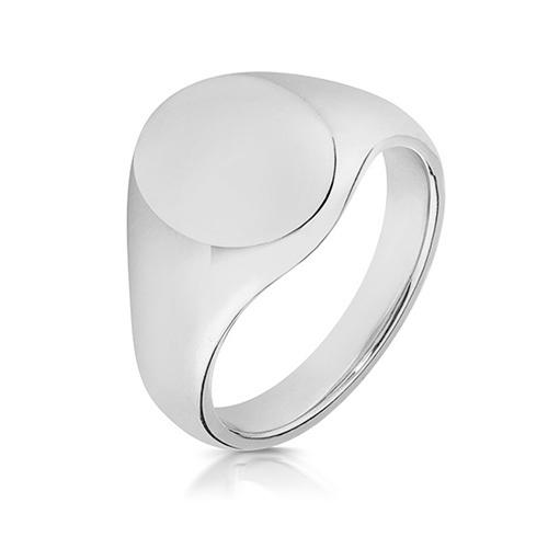 silver heavy signet ring 12 x 10mm