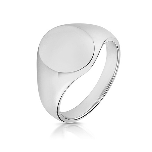 sterling silver 12 x 10 oval signet ring