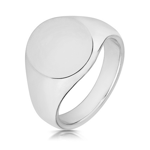 sterling silver heavy signet ring oval