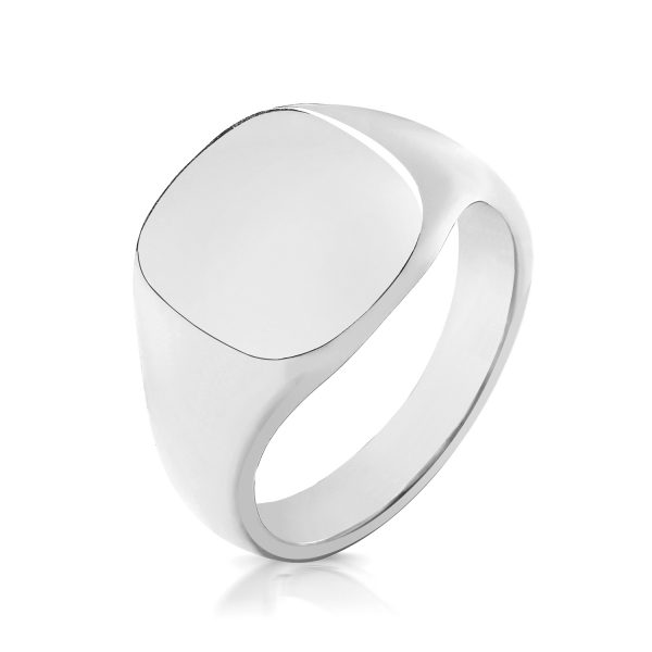 Men's Sterling Silver Signet Rings