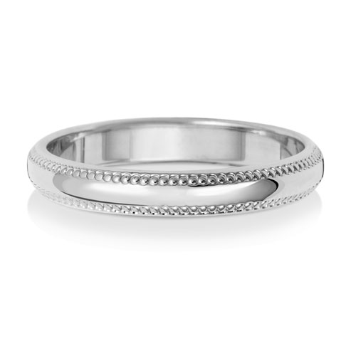 3mm D Shape Migraine Wedding Ring