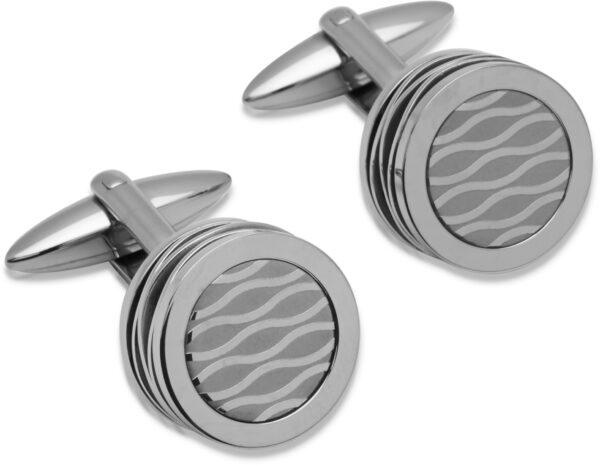 fancy steel cufflinks