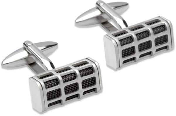 steel mesh cufflinks
