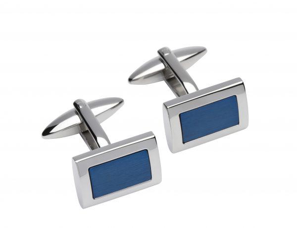 steel blue cufflinks