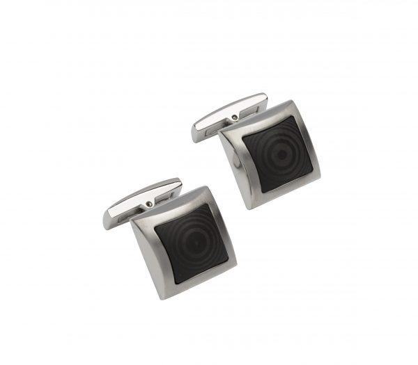 steel pair of cufflinks