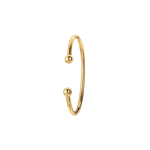 9 carat gold torq baby bangle