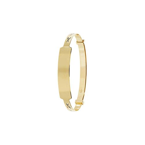 9 carat gold baby bangle id