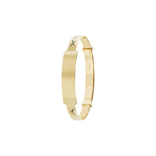9 carat yellow gold id bangle