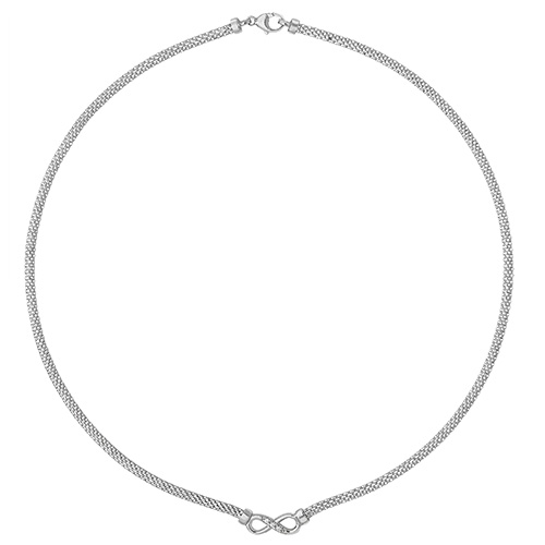 sterling silver infinity necklet