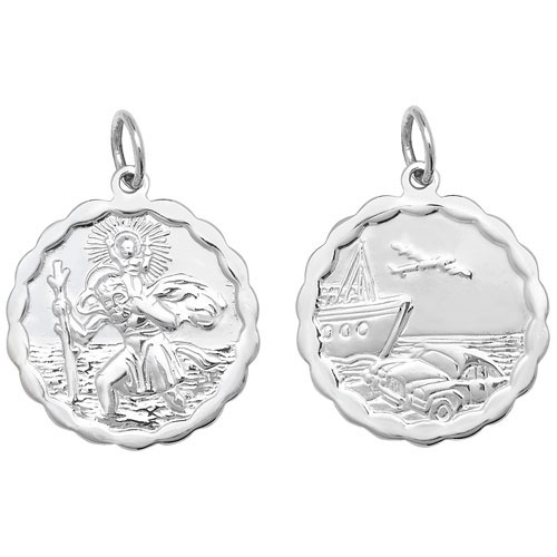 silver st christopher large
